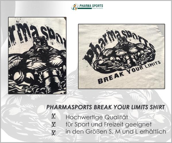 Es ist zurück - das Pharmasports Break Your Limits Shirt!