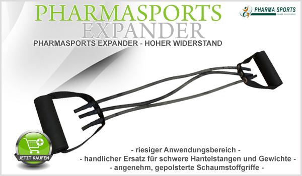 Pharmasports Expander - Trainingsgerät für den Heimgebrauch natürlich in bester und höchster Qualität