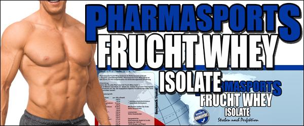 Mehr Erfolg mit dem Pharmasports Frucht Whey Isolat!