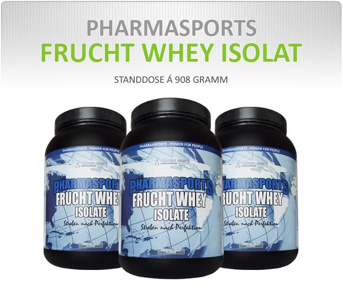 Pharmasports Frucht Whey Isolat - Dose á 908 Gramm
