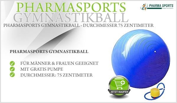 Übungen Workout mit dem Pharmasports Gymnastikball Bauch Beine Po