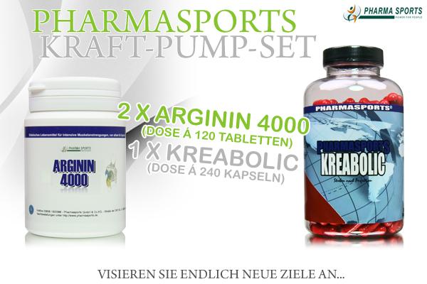 Sparen mit dem Pharmasports Kraft-Pump-Set!