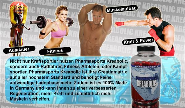 pH-neutrale Creatin-Matrix für Ihre Muskelaufbau von Pharmasports.de