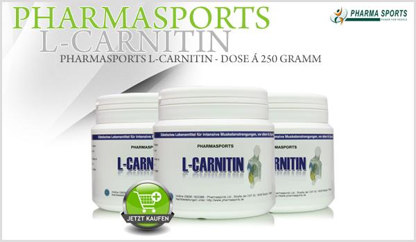 Pharmasports L-Carnitin 250 Gramm wieder lieferbar!