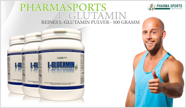 Pharmasports L-Glutamin - 500 Gramm reines L-Glutamin