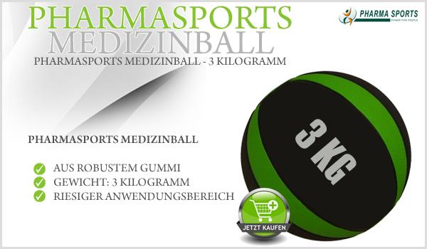 Pharmasports Medizinball (3 Kilogramm) neu im Sortiment!