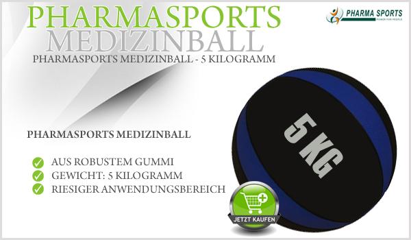 Pharmasports Medizinball auch in 5 Kilogramm erhältlich!