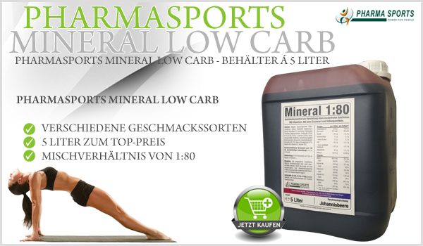 Pharmasports Mineral Low Carb im 5 Liter Behälter