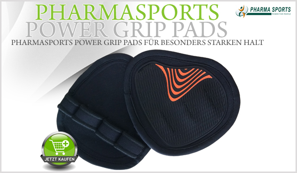 Mehr Halt in Training mit den Pharmasports Power Grip Pads!
