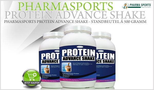 Pharmasports Protein Advance Shake - Standbeutel á 500 Gramm