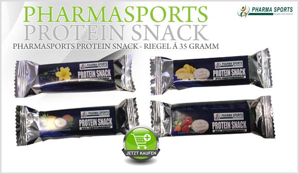 Neu bei Pharmasports - der Pharmasports Protein Snack