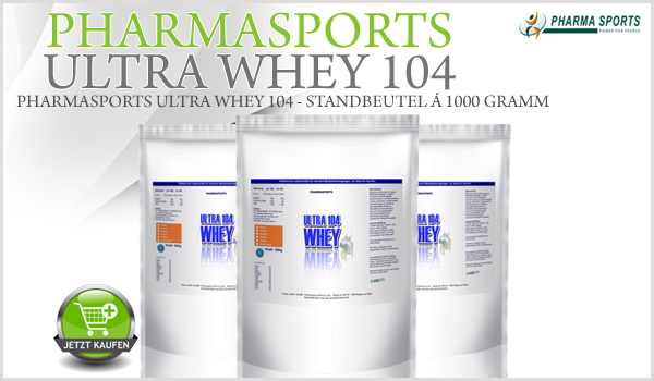 Pharmasports Ultra Whey 104 - Standbeutel á 1000 Gramm