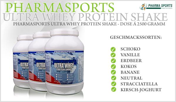 Pharmasports Ultra Whey Protein Shake - Dose á 2500 Gramm