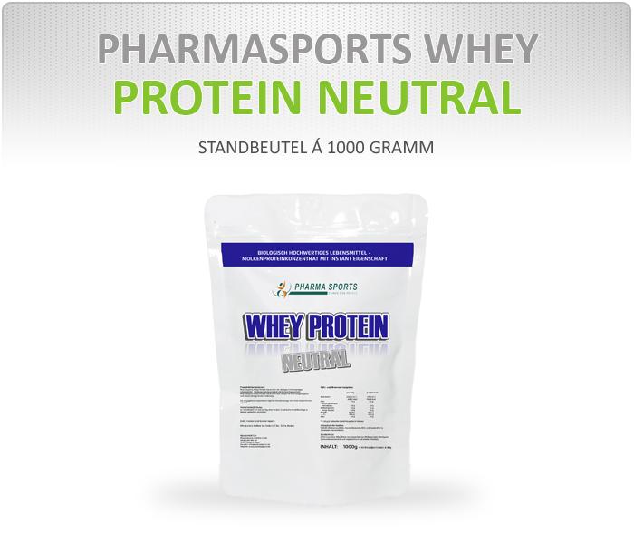 Pharmasports Whey Protein Neutral - Standbeutel á 1000 Gramm