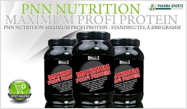 Neues Mehrkomponenten-Protein bei Pharmasports - PNN Nutrition Maximum Profi Protein