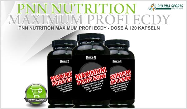 PNN Nutrition Maximum Profi Ecdy - NEU bei Pharmasports im Sortiment.