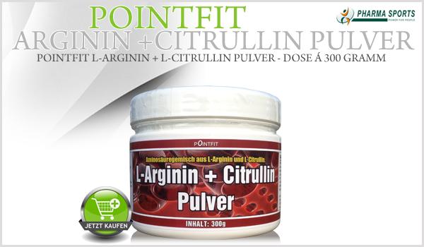 Ab sofort bei Pharmasports: PointFit Arginin + Citrullin Pulver