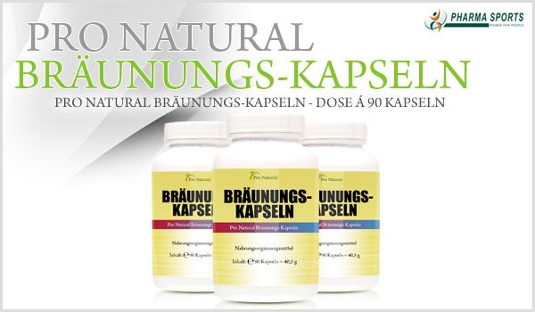 Pro Natural Bräunungs-Kapseln bei Pharmasports