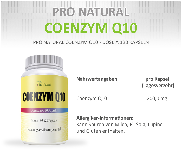 Pro Natural Q10 Informationen