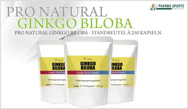 NEU BEI PHARMASPORTS: Pro Natural Ginkgo Biloba