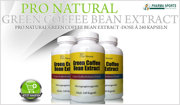 Pro Natural Green Coffee Bean Extract - Dose á 240 Kapseln