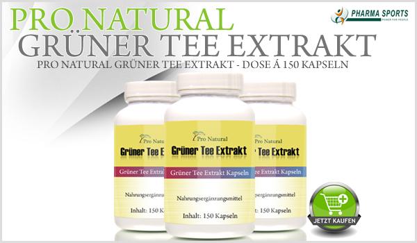 Pro Natural Grüner Tee Extrakt - Dose á 150 Kapseln