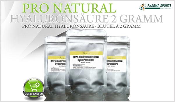 Pro Natural Hyaluronsäure 2 Gramm