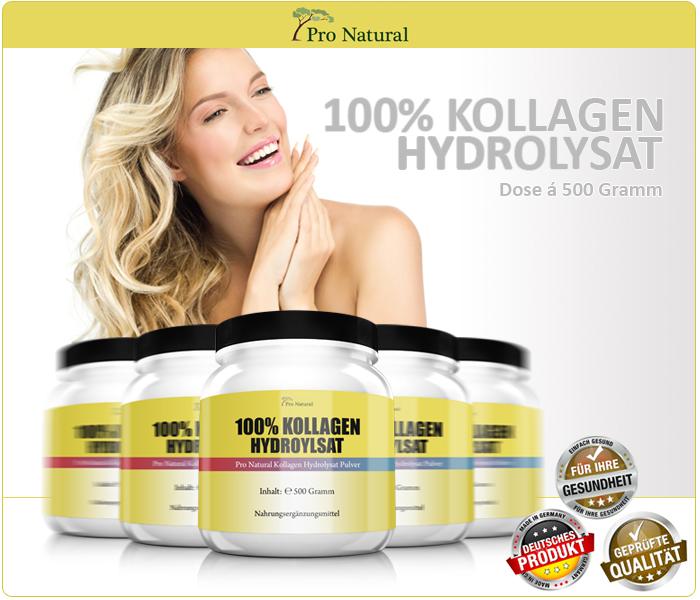 Pro Natural 100% Kollagen Hydrolysat - Dose á 500 Gramm