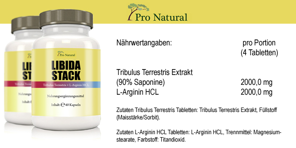 Informationen zu Pro Natural Libida Stack