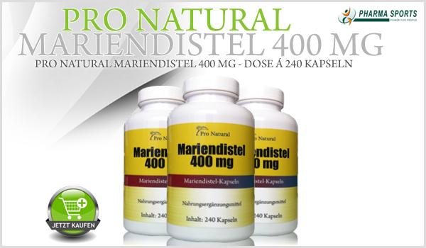 Ab sofort erhältlich - Pro Natural Mariendistel 400mg!