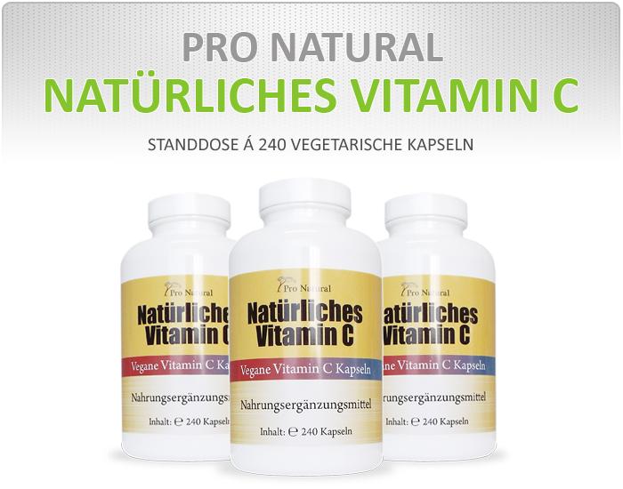 Pro Natural Natürliches Vitamin C - vegane Vitamin C Kapseln