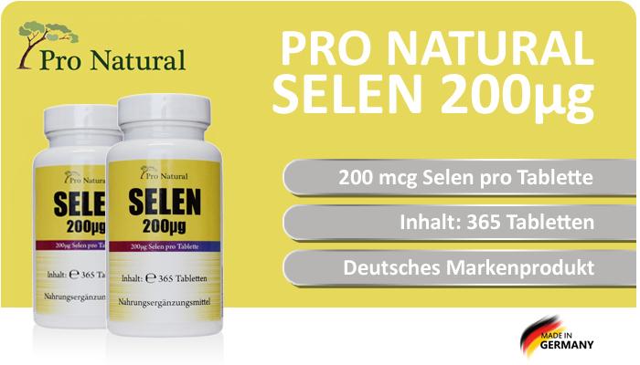 Pro Natural Selen 200µg - 200 mcg Selen pro Tablette