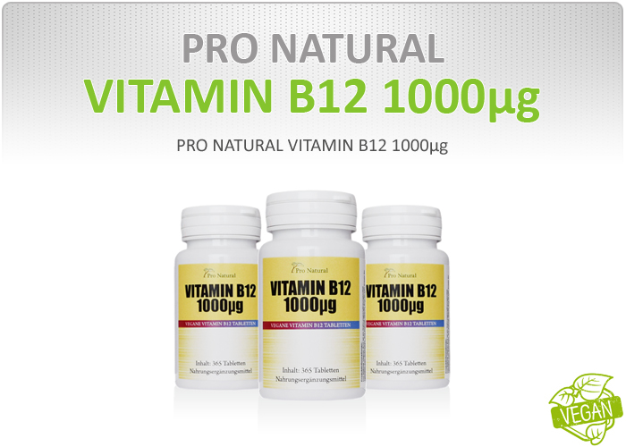 Pro Natural Vitamin B12 1000µg - Dose á 365 Tabletten