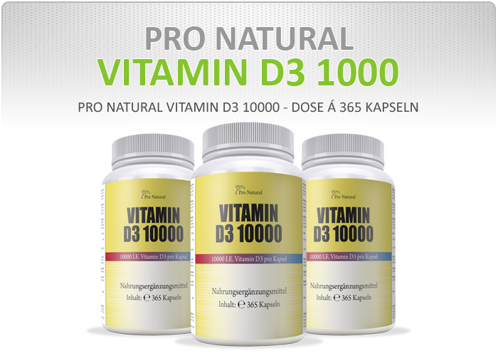 pro natural vitamin d3 365 kapseln a 10000 iu sonnenschein vitamin 10000i e 7426762916763 ebay. Black Bedroom Furniture Sets. Home Design Ideas
