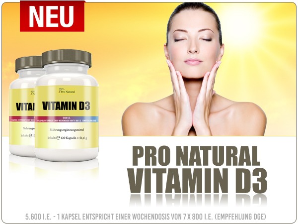 Pro Natural Vitamin D3 ab sofort bei Pharmasports bestellen