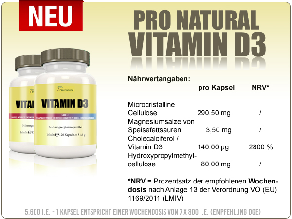 Informationen zu Pro Natural Vitamin D3