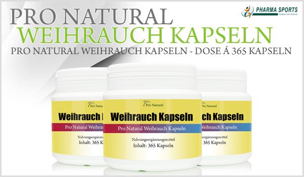 NEU bei Pharmasports - Pro Natural Weihrauch Kapseln