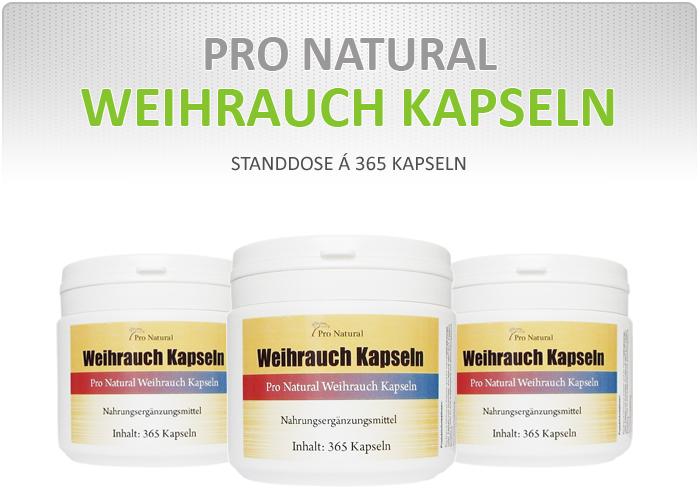 Pro Natural Weihrauch Kapseln - Dose á 365 Kapseln