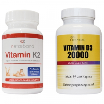 Pro Natural Vitamin D3 + K2 Big Pack
