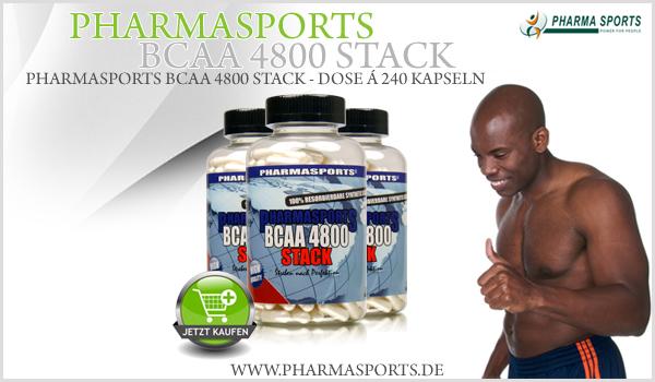 Pharmasports BCAA 4800 Stack - 240 Kapseln Dose