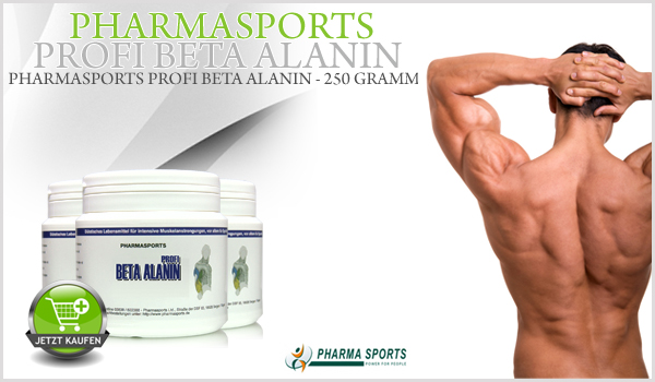 Pharmasports Profi Beta Alanin - Beta Alanin Pulver von Pharmasports