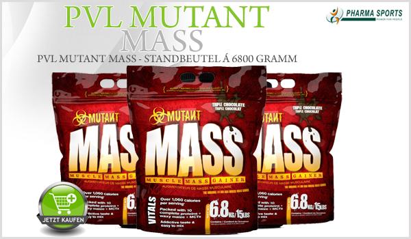 PVL Mutant Mass neu im Weight Gainer Sortiment bei Pharmasports