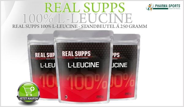 Real Supps 100% L-Leucine neu bei Pharmasports in der Aminosäure-Auswahl