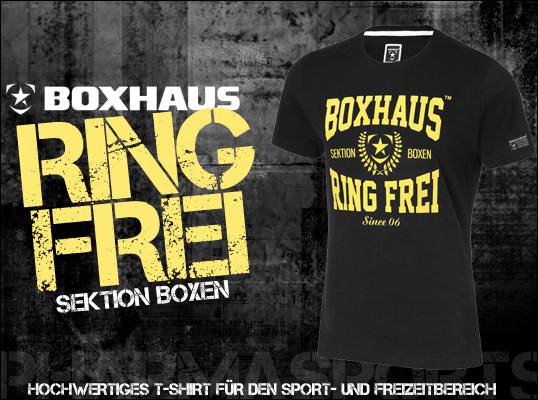Boxhaus Ring Frei T-Shirt jetzt auch bei Pharmasports!