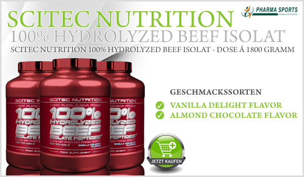 Scitec Nutrition 100% Hydrolyzed Beef Isolate - hochwertiges Rinderprotein-Isolat