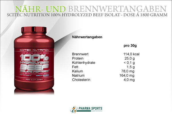 Scitec Nutrition 100% Hydrolyzed Beef Isolate - Informationen bei Pharmasports