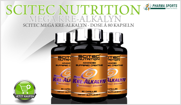 Scitec Mega Kre-Alkalyn natürlich auch bei Pharmasports!