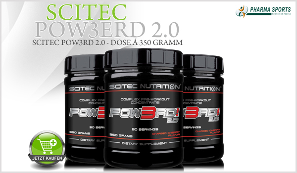 Scitec Pow3rd 2.0 - Komplexes Pre-Workout Konzentrat