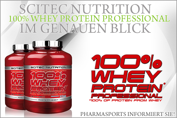 Scitec Nutrition 100% Whey Protein Professional im genauen Blick