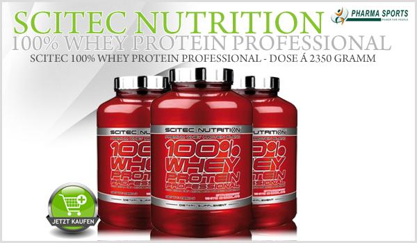 Scitec 100% Whey Protein Professional - Whey Protein auf höchstem Niveau